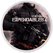 The Expendables 2 Statham Round Beach Towel