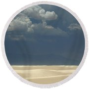 The Expulsion Round Beach Towel