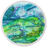 The Eydes Of March Round Beach Towel