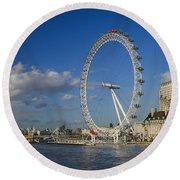 The Eye In London Round Beach Towel