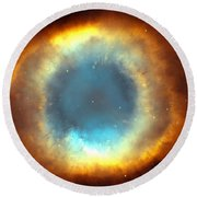 The Eye Of God-helix Nebula Close Up Round Beach Towel