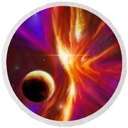 The Eye Of God Round Beach Towel