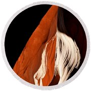 The Eye Of Lower Antelope Canyon Round Beach Towel