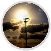 The Eye Of The Evening Sun Round Beach Towel