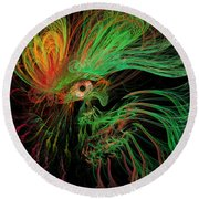 The Eye Of The Medusa Round Beach Towel