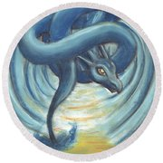 The Eye Of The Storm Round Beach Towel