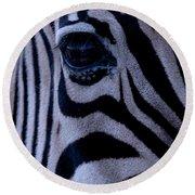 The Eye Of The Zebra Round Beach Towel