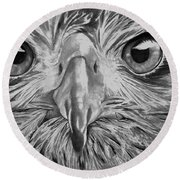 The Eyes Are On You Round Beach Towel