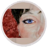 The Eyes Have It - Nicole Round Beach Towel
