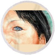 The Eyes Have It - Tami Round Beach Towel