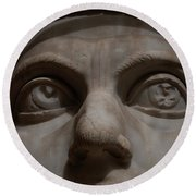 The Eyes Of Constantine Round Beach Towel