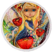The Fairies Of Zodiac Series - Virgo Round Beach Towel