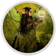 The Fairy Of Clairvoyant Round Beach Towel