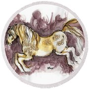 The Fairytale Horse 1 Round Beach Towel