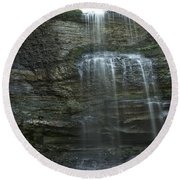 The Falls From Below Round Beach Towel
