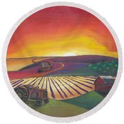 'the Farm' Round Beach Towel