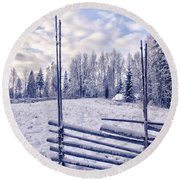 The Fence Round Beach Towel