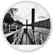 The Ferry Terminal York Round Beach Towel