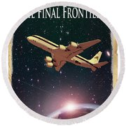 The Final Frontier Round Beach Towel