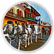 The Final Ride Painted Round Beach Towel