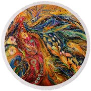 The Fire Dance Round Beach Towel