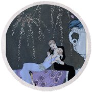 The Fire Round Beach Towel by Georges Barbier