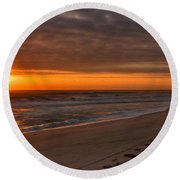 The Fisherman's Golden Hour Round Beach Towel