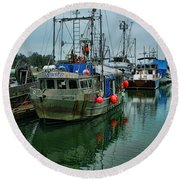 The Fishing Boat Genesta Hdrbt4240-13 Round Beach Towel
