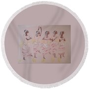 The Five Wise Virgins Round Beach Towel
