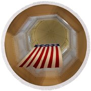 The Flag - Maryland State House Round Beach Towel