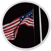 The Flag Of 1801 Round Beach Towel