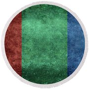 The Flag Of The Planet Mars Round Beach Towel