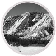 The Flatirons Round Beach Towel