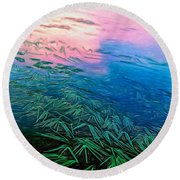 The Flow - Paint Round Beach Towel