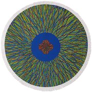 The Flower 3 Round Beach Towel