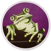 The Fly Catcher Round Beach Towel