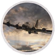 The Flying Fortress Round Beach Towel