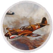 The Flying Tigers Round Beach Towel