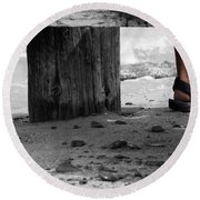 The Foot Round Beach Towel
