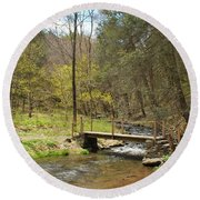 The Foot Bridge Round Beach Towel
