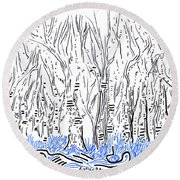 The Forest For The Trees An Aceo Round Beach Towel
