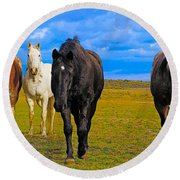The Four Musketeers Round Beach Towel