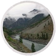 The Fraser River Round Beach Towel