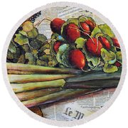 The French Cook Round Beach Towel