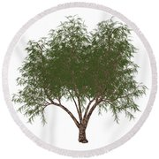 The French Tamarisk Tree Round Beach Towel