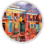 The Frenchmen Hotel New Orleans Round Beach Towel
