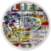 The Game Of Life Round Beach Towel