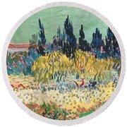 The Garden At Arles, Detail Round Beach Towel
