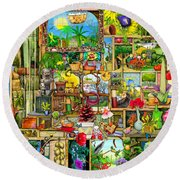 The Garden Cupboard Round Beach Towel