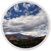 The Garden Of The Gods Round Beach Towel